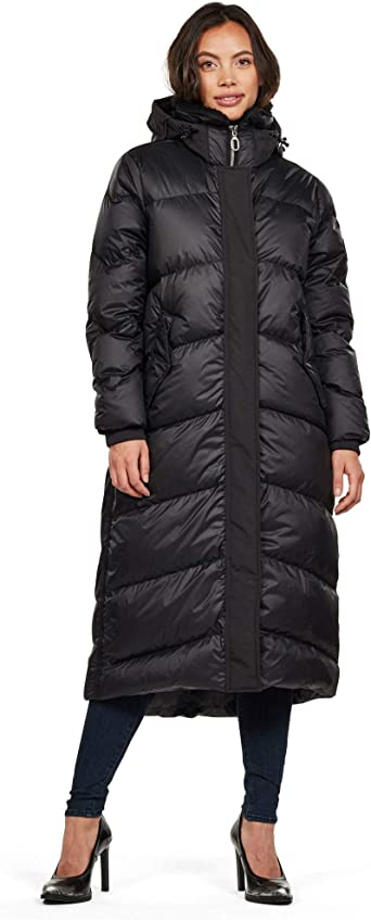 G STAR RAW Women's Whistler Hooded Down Long Parka: Amazon