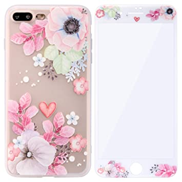 coque fleure iphone 8