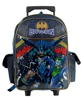 Amazon.com | Batman Rolling Backpack - Boys Rolling School Bag ...