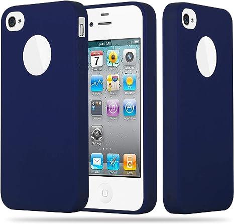 PURO COVER CUSTODIA Iphone 4 4S Blu Opaco Trasparente Ultra Slim +