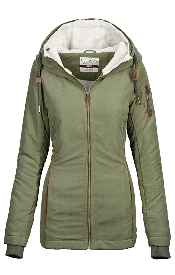 Jacke Warme B505 Urban Winter Winterjacke Parka Mantel Damen Surface Teddyfell qzpMVUSG