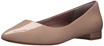 Rockport Women's Total Motion Adelyn Ballet Warm Taupe Soft Patent 6.5 W ...