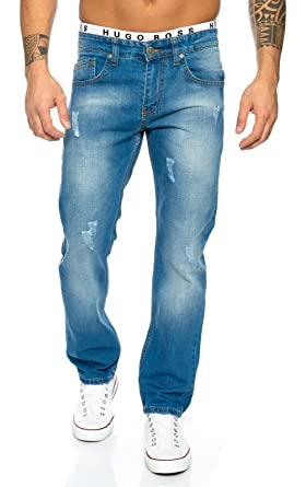 Rock Creek Herren Jeans Hose Denim Blau LL-394 [W29 L30]