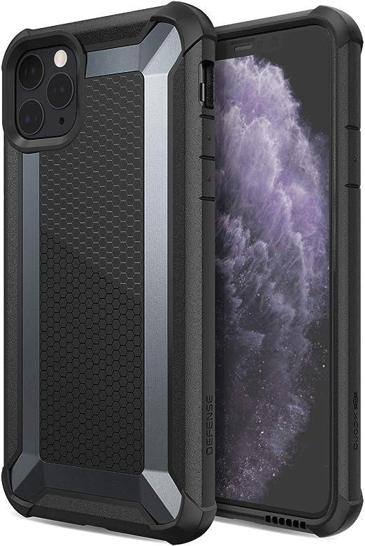 Defense Tactical Series Coque pour iPhone 11 Pro Max avec protection contre les chutes de qualité militaire pour Apple iPhone 11 Pro Max Noir