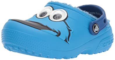 Crocs - Unisex-Kind Spaß Lab Fuzz Lined Cookie Monster Clog Schuhe, EUR: 23-24, Ocean