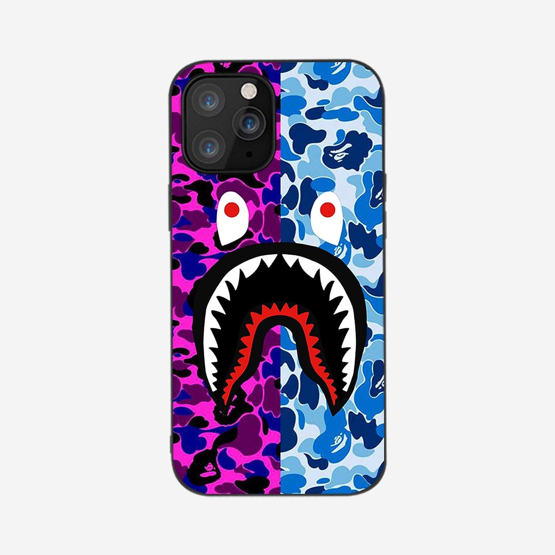 Shark Teeth Hardshell Silicone Case Compatible iPhone 12/12(6.1