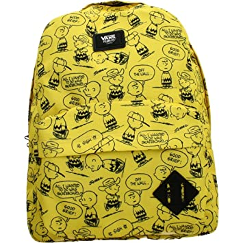 Vans Old Skool II Backpack Casual Daypack, 42 cm, 22 L, Charlie  Brown/Peanuts