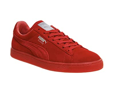 puma suede rouge femme