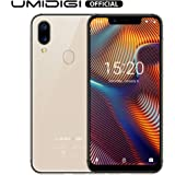 """UMIDIGI A3 Pro Mobile Phones Unlocked 5.7"""" inch 19:9 Full-Screen Display 12MP + 5MP Dual Camera Global Band Dual 4G LTE 2 + 1 Card Slots 3GB+32GB(Expandable Storage to 256G) Android 9.0 (Rose Gold)"""