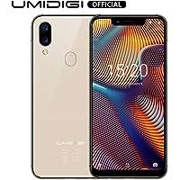 """Smartphone Offerta del Giorno, UMIDIGI A3 Pro 5.7"""" Schermo Notch(19: 9), Triplo Slot 2 Nano SIMs+1 MicroSD, Quad Core 3GB+32GB, Cellulari Offerte Android 8.1, Batteria 3300mAh,Fotocamera 12MP+5MP-Gold"""