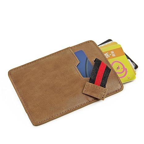 Artmi mens Slim tarjeta caso billetera con protección RFID tarjeta ultra delgada titular carteras