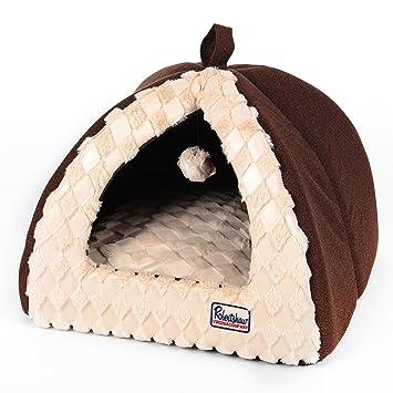 Cómoda Cama Y Casa Para Gatos Con Dosel Para Mascotas, Alta Cama Plegable Portátil Para Interiores ...