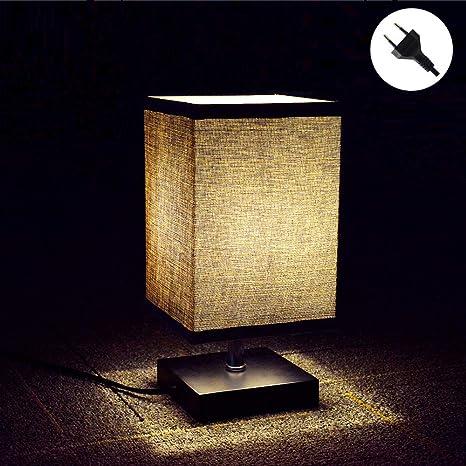 Lámpara de mesa W-Lite de madera, lámpara de mesa de noche ...