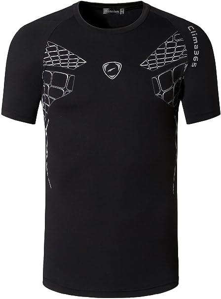 jeansian Hombre 3 Mix Packs Deporte Camiseta de Mangas Cortas T ...