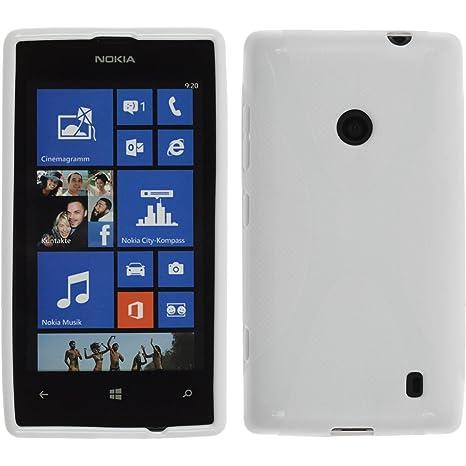 new concept bbe7c d6fef Amazon.com: PhoneNatic Silicone Case for Nokia Lumia 520 X-Style ...