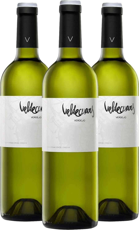Nueva Añada 2019 Valdecuevas Verdejo, Caja de 3, Vino Blanco, 750 ml x3 D.O RUEDA: Amazon.es: Alimentación y bebidas