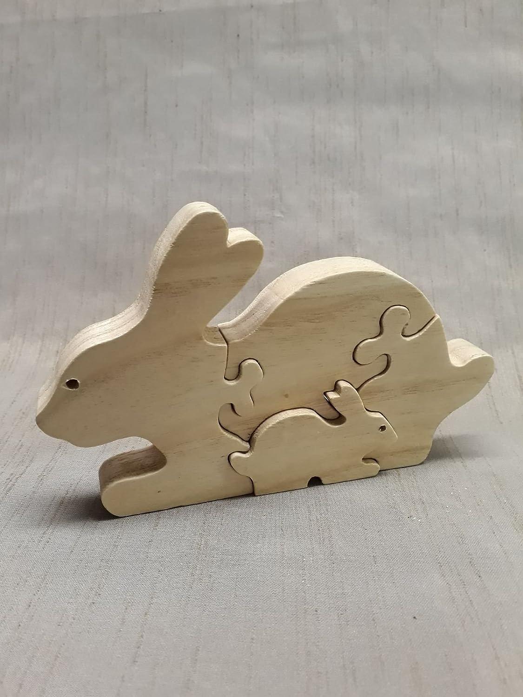 Kindersteckspiel `Puzzle Hase´