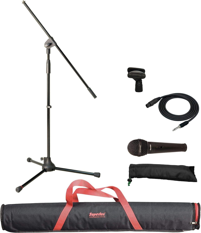 Superlux MSKA P Pack micr/ófono con Soporte Jirafa y Bolsa