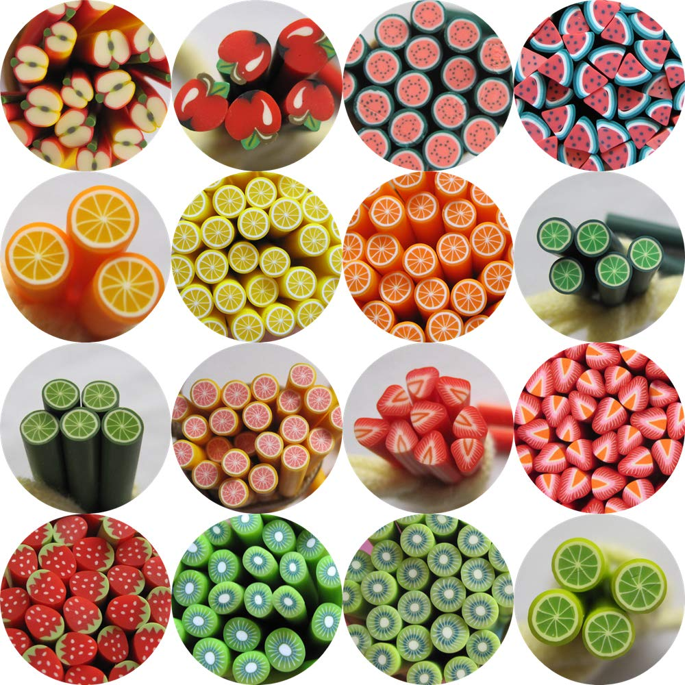 80pcs/bag Nail Art Polymer Clay Cane Fruit series Each 5pcs 10018 by Nail Angel