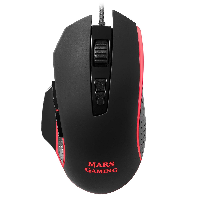 Mars Gaming MM018 - Ratón PC, 4800DPI, RGB Breathing, 8 Botones programables: Amazon.es: Electrónica