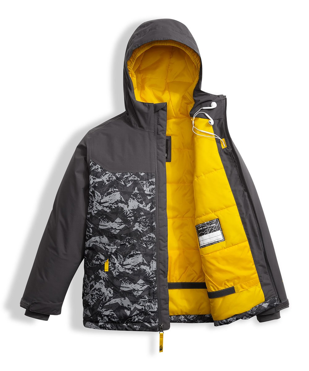 The North Face Big Boys' Brayden Insulated Jacket - graphite grey, l/14-16 by The North Face (Image #5)