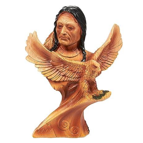 amazon com native american indian figurine indian warrior native