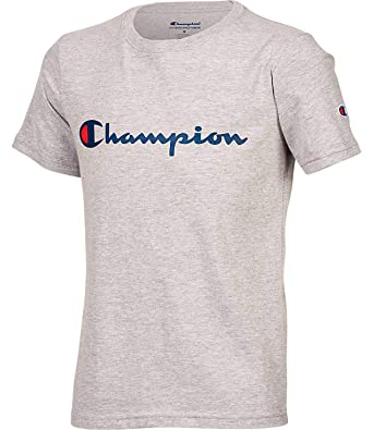 6122d384 Amazon.com: Champion Boys Short Sleeve Logo Tee Shirt: Clothing