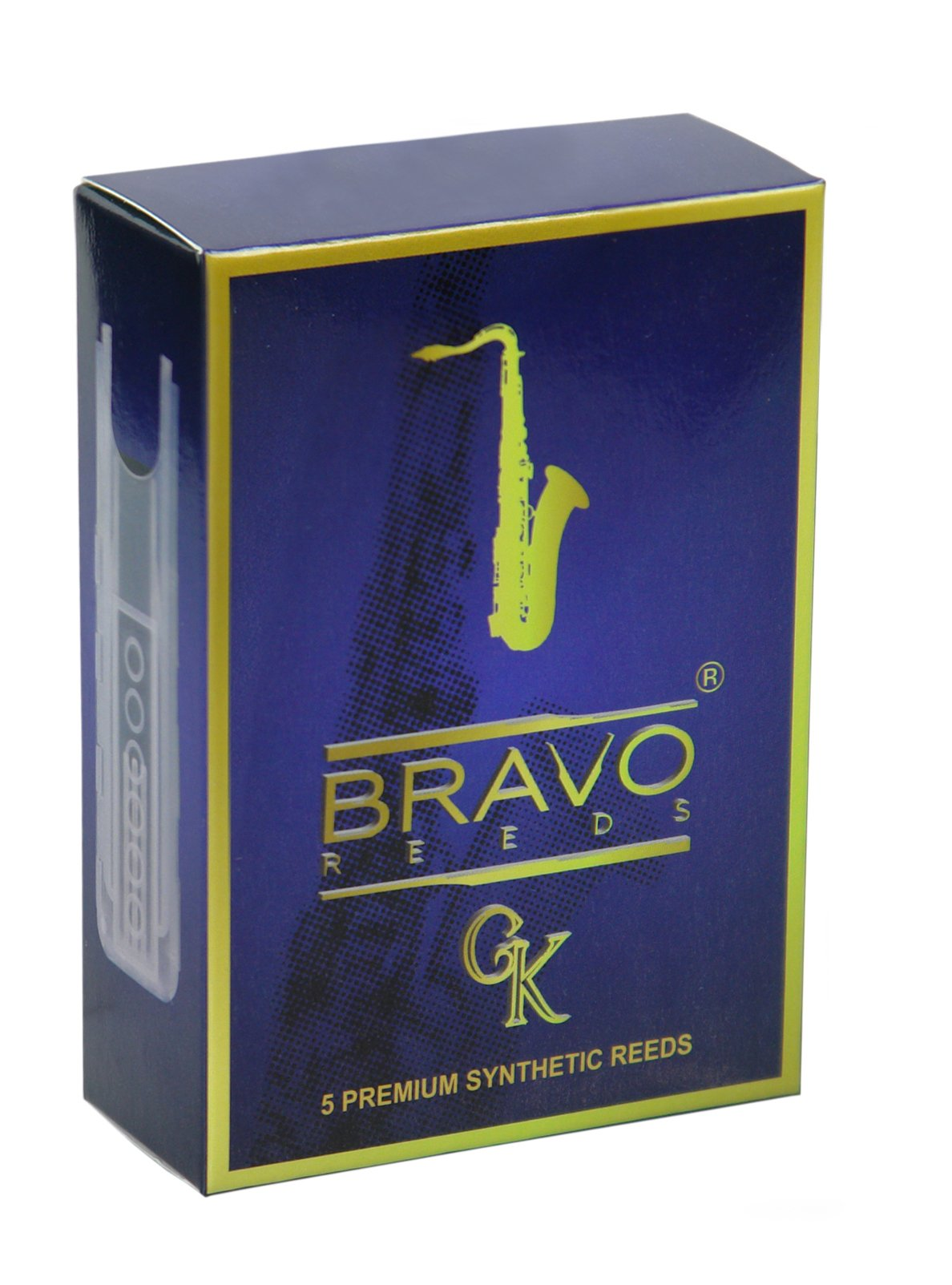 Bravo BR-TS20 Synthetic Reeds for Tenor Saxophone, Strength 2.0 (Box of 5)