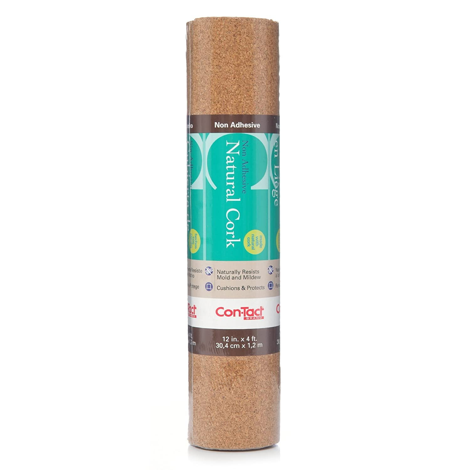 Con-Tact Brand 12-Inchx4-Feet Non-Adhesive Shelf Liner, Natural Cork 04F-C6410-06