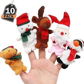 10 Peluches para Niños-Mini Personajes de Navidad-Minifiguras de Juguete para Favor,Premios,Sorpresa,Relleno de Regalos o Medias deTemporada ...