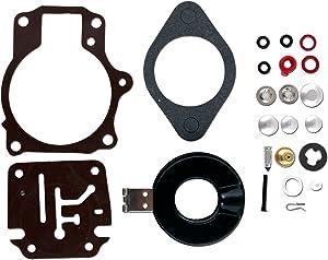 CBK Carburetor Carb Rebuild Repair Kit w Float for Johnson/Evinrude 18 20 25 28 30 35 40 45 50 55 60 65 70 75 HP 396701 392061 398729