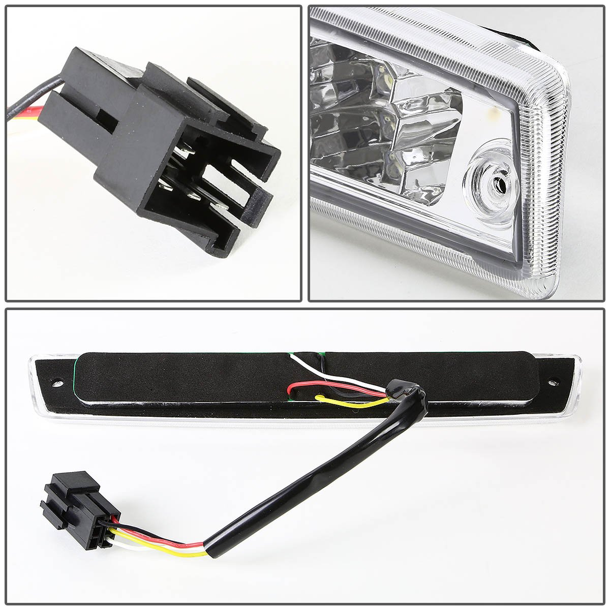For 94 01 Dodge Ram Br Be High Mount Dual Row Led 3rd 98 Seat Belt Wiring Brake Cargo Reverse Light Chrome Housing Automotive