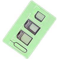 Adaptateur Carte SIM Converter Kit, Includes Nano Micro Carte SIM éjecter Aiguille et Manchon de Rangement pour IPhone Parallèlement Utile pour Samsung Nokia Huawei (Black)