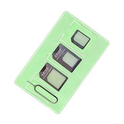 Adaptador de Tarjeta SIM (Nano SIM Adaptador - Micro SIM Adaptador - Expulsar Aguja - Funda de almacenamiento) para iphone 7 6 5 4 usuario Samsung ...