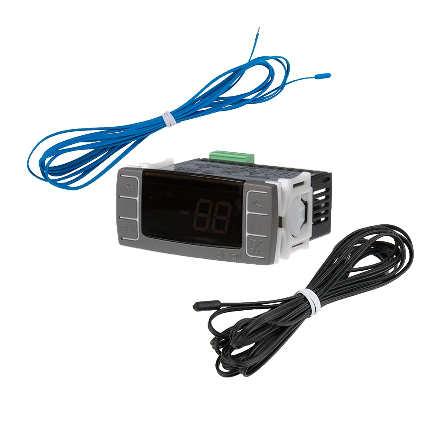 New Dixell Model: XR02CX Digital Temperature Control Panel Thermostat with 2 Temperature Sensor Probes Included / 120v