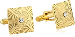 product image for 1928 Jewelry Unisex Crystal Square Cuff Links