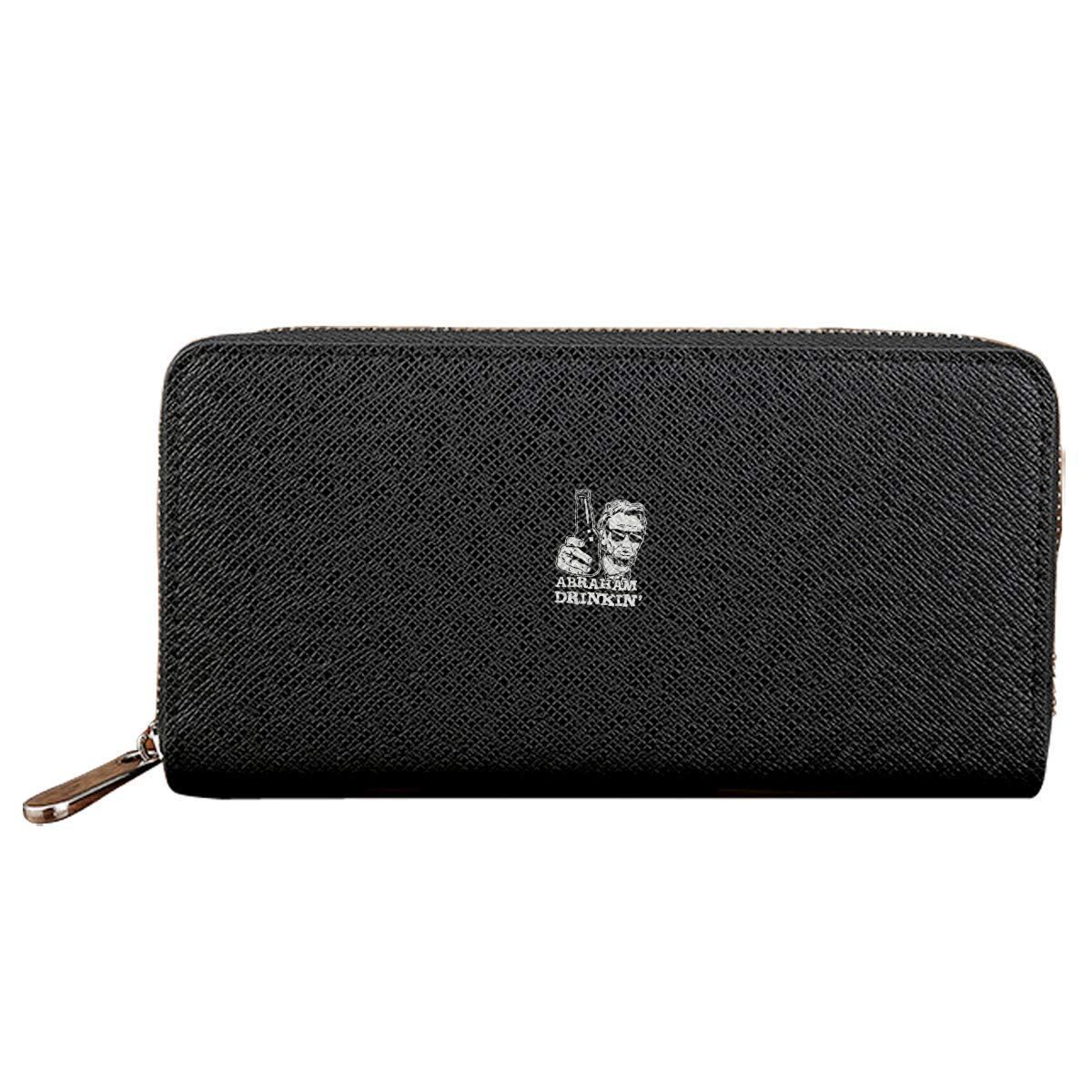 Abraham Drinkin Credit Card With Zipper Wallet Business Casual Hand Wallet
