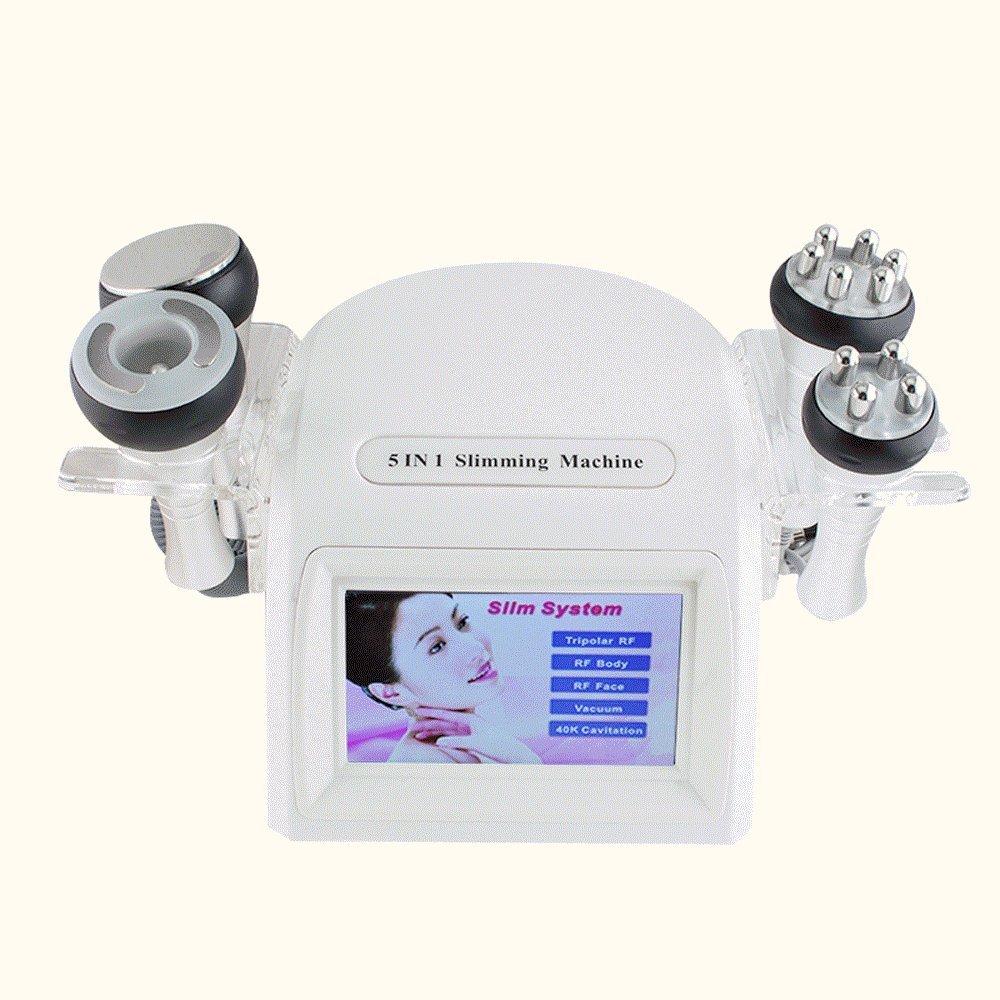 Finlon 5 in 1 Led Cavitation Machine 40K RF Radio Frequency Multipolar Vacuum Machine Fat Removal Cellulite Reduce Body Shaping Equipment