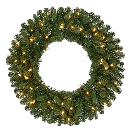 pre lit battery operated led sierra nevada artificial christmas wreath with warm