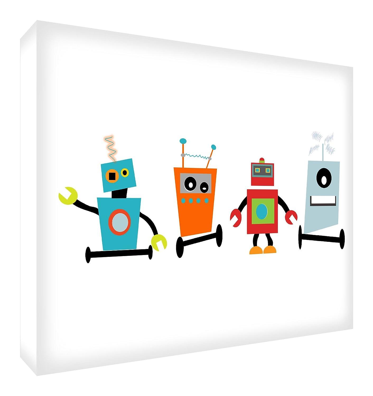 Feel Good Art robots-a6blk-15it Framework Decorative Acrylic, Drawing, Robots, 14.8x 10.5x 2cm Little Helper ROBOTS1624-15IT