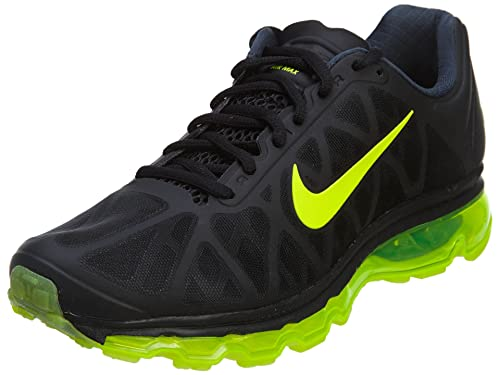 bce2533531eb Nike Air Max 2011 Men s Black Volt Athletic Running Shoes-UK 9  Buy Online  at Low Prices in India - Amazon.in