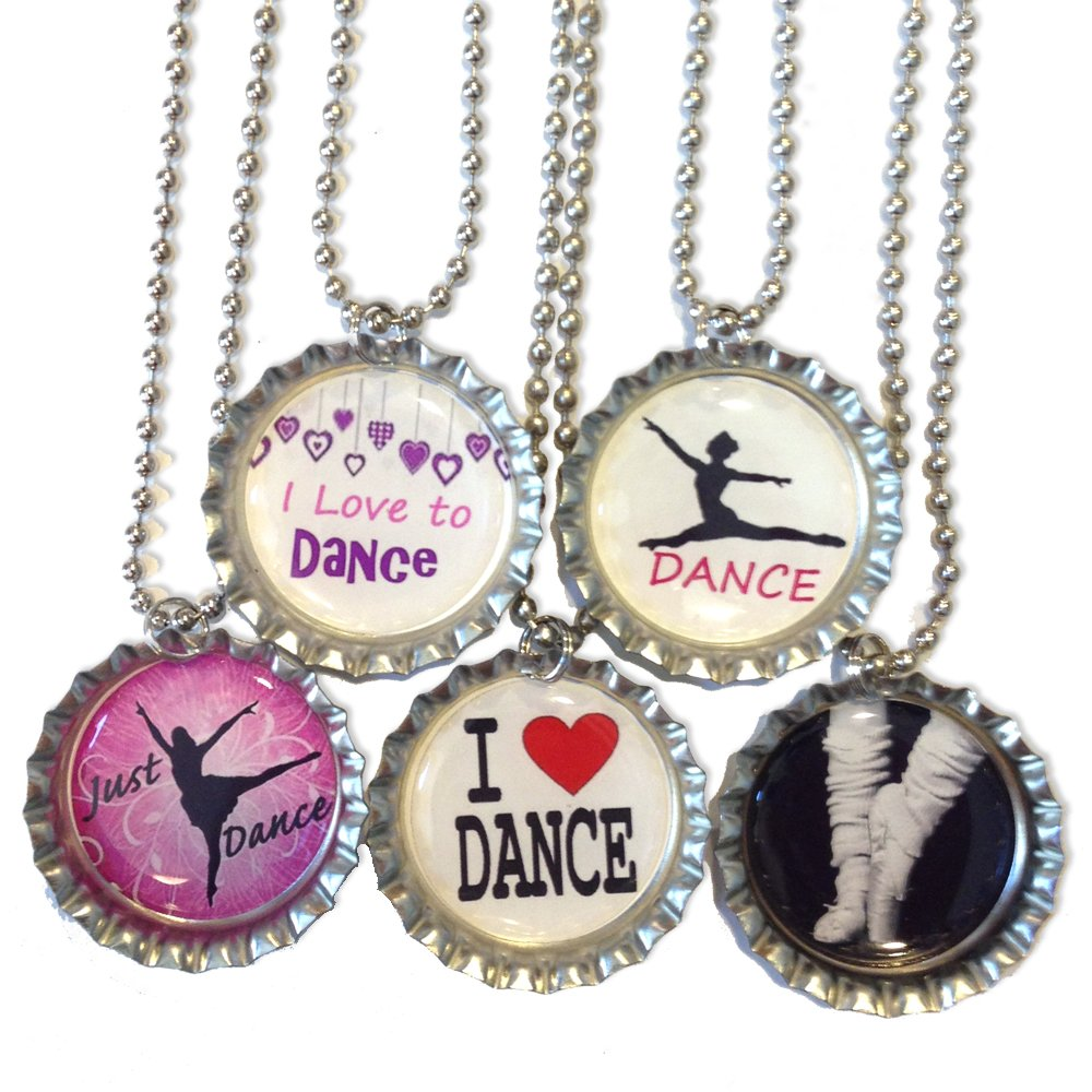 I Love to Dance - Dance Bottlecap Necklaces - Set of 5