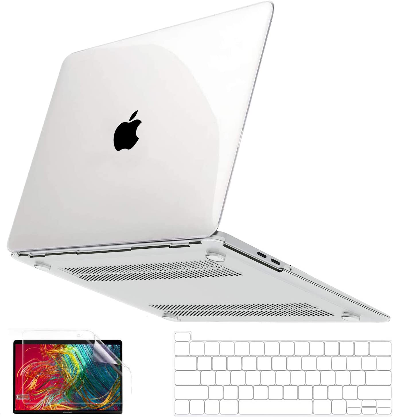 Keyboard Skin Dust Plug,Crystal Transparent Se7enline Clear MacBook Pro 13 Case 2020//2019//2018//2017//2016 Laptop Cover for MacBook Pro 13/'/' Model A2251//A2289//A1989//A2159 with Sleeve Screen Protector