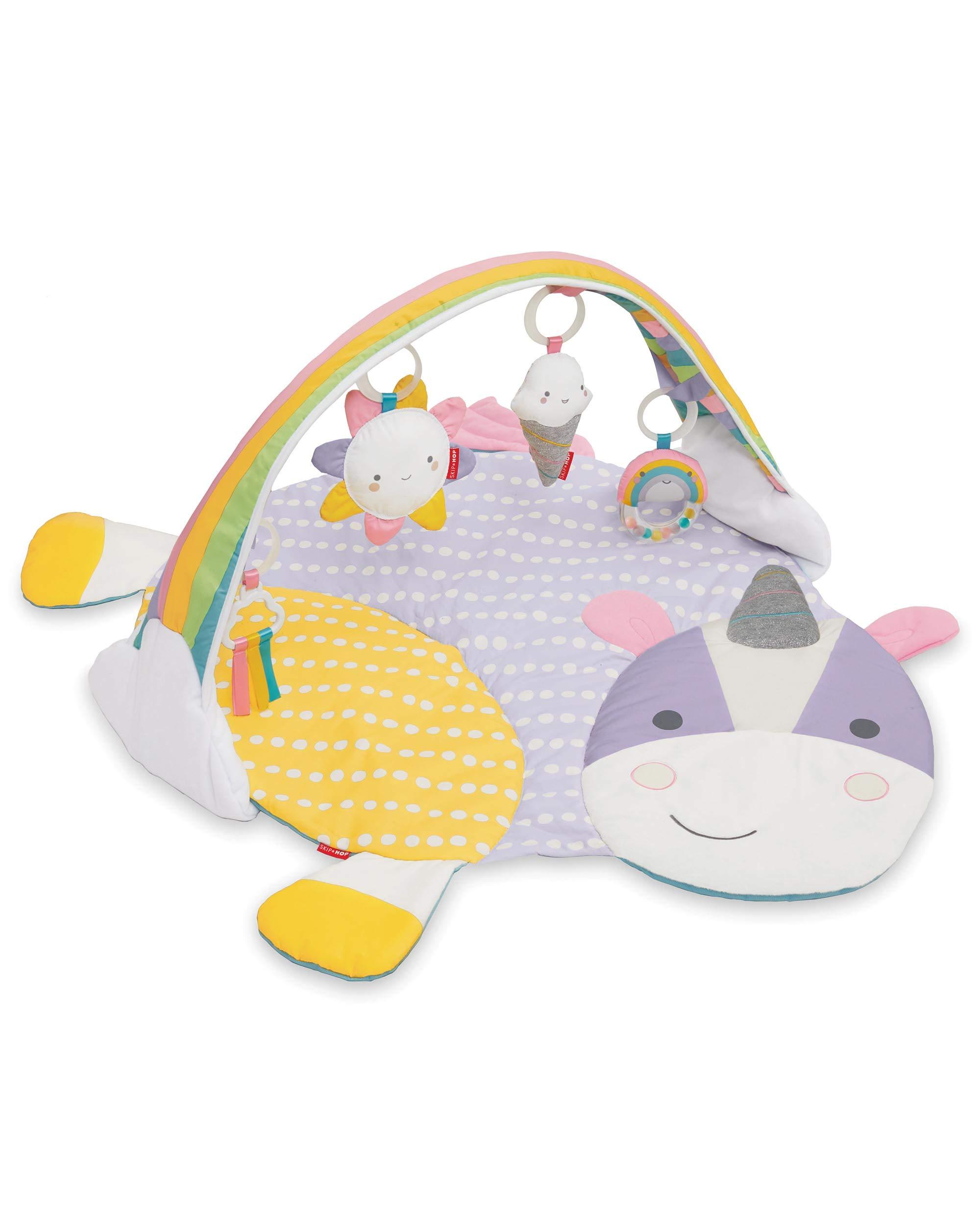 Skip Hop Eureka Unicorn Baby Play Mat Activity Gym, 24'' X 16.5''H, Multi Colored