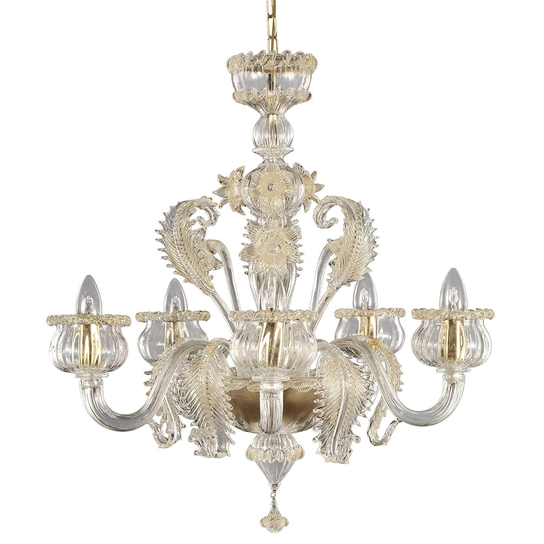 Lámpara clásico diseño único. Cristal Murano cristal y oro ...