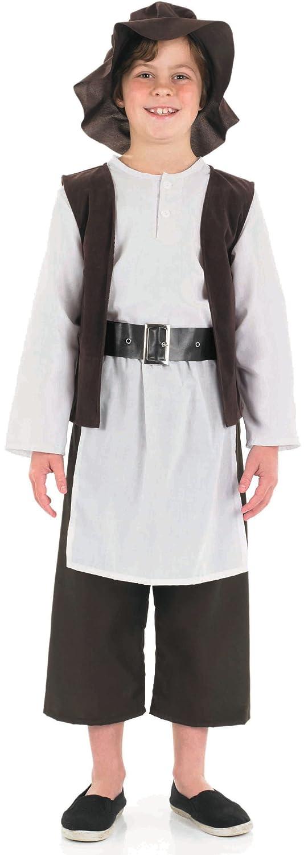 Amazon.com: Fun Shack Child Tudor Poor Boy Costume - Age 6 - 8 Yrs ...