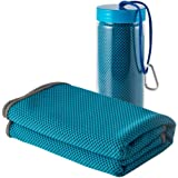 Cooling Towel Gimsan Sports Towel Evaporative Chilly Towel for Sports Workout Fitness Gym Yoga Pilates Travel Camping