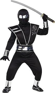 fancy dress warehouse Disfraz de Ninja con Espejo de Plata para ...