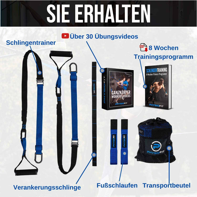 Schlingentrainer Ganzkörpertraining Türanker Trainingsanleitung Transportbeutel