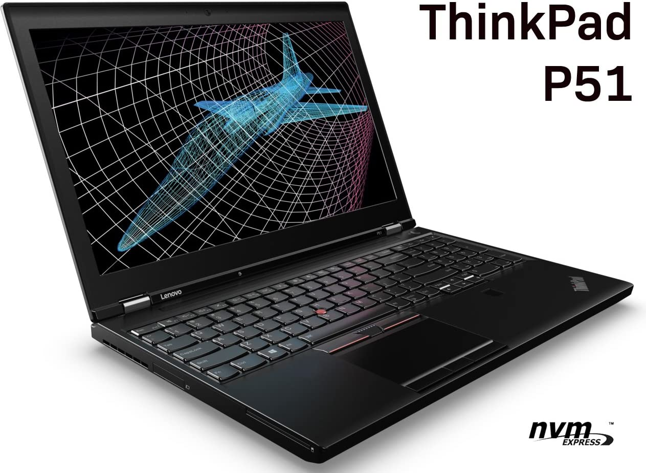 "Lenovo ThinkPad P51 Mobile Workstation - Intel Quad-Core i7-7700HQ, 32GB DDR4 RAM, 512GB PCIe NVMe SSD, 15.6"" FHD IPS 1920x1080 Display, NVIDIA Quadro M1200M 4GB, Windows 10"
